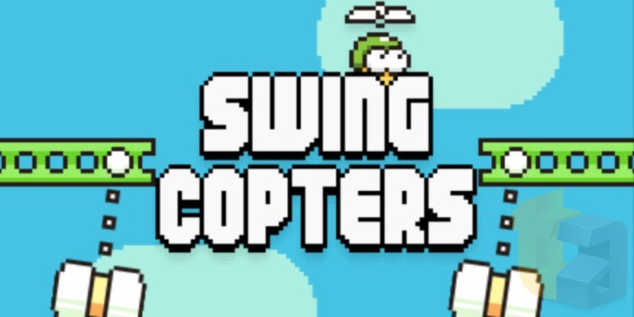swing copters - Ra mắt Swing Copters: Game mới của tác giả Flappy Birds