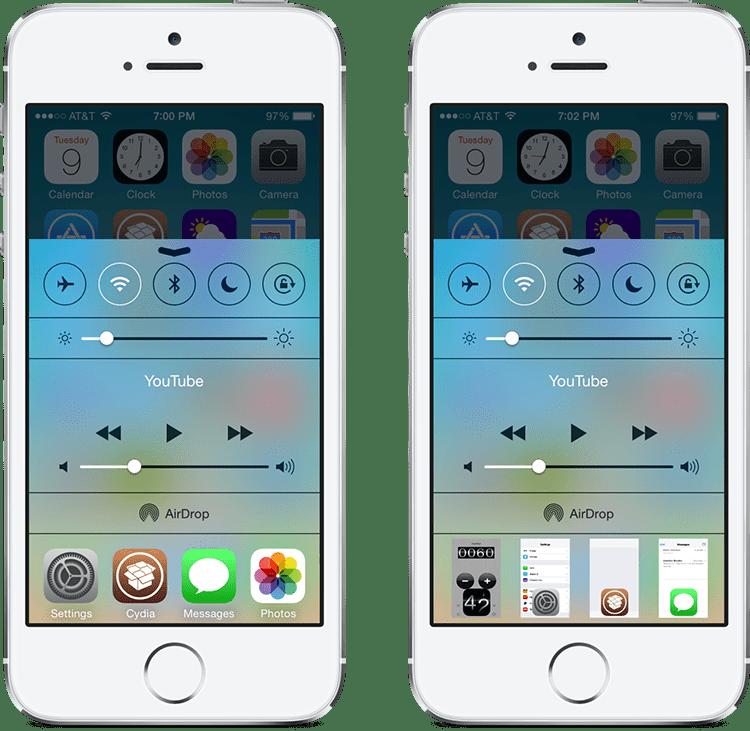 cswitcher - Quản lý đa nhiệm iPhone ngay trong Control Center