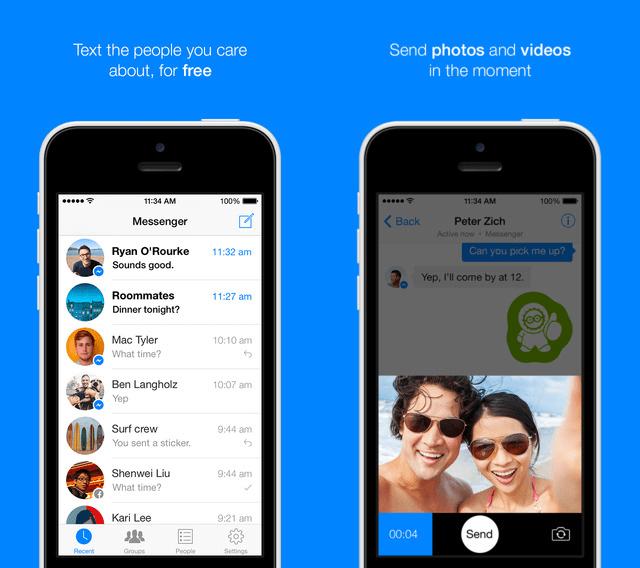 facebook messenger - Facebook Messenger được cập nhật cho iOS 8