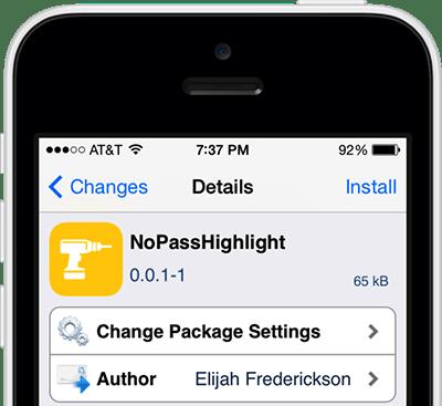 nopasshighlight - Đề phòng lộ mật khẩu trên màn hình khóa với NoPassHighlight