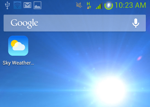 sky weather - Kho hình nền thời tiết đẹp cho Android