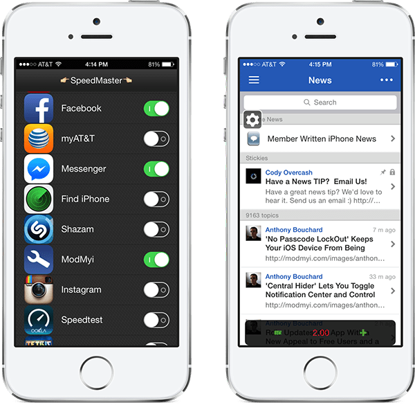 speedmasterfree - SpeedMasterFree: Tăng tốc ứng dụng và game trên iPhone