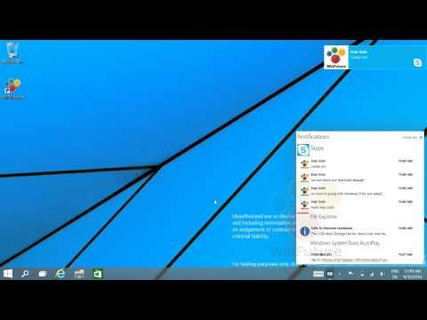 Sơ lược Notification Center trên Windows 9