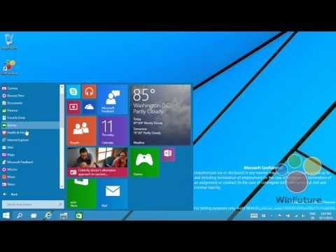 Windows 9 lộ diện qua đoạn video mới