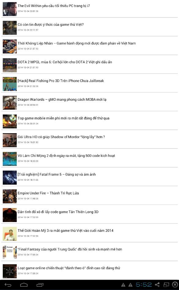 2014 10 05 005252 - GameLink – Ứng dụng xem tin game trên di động