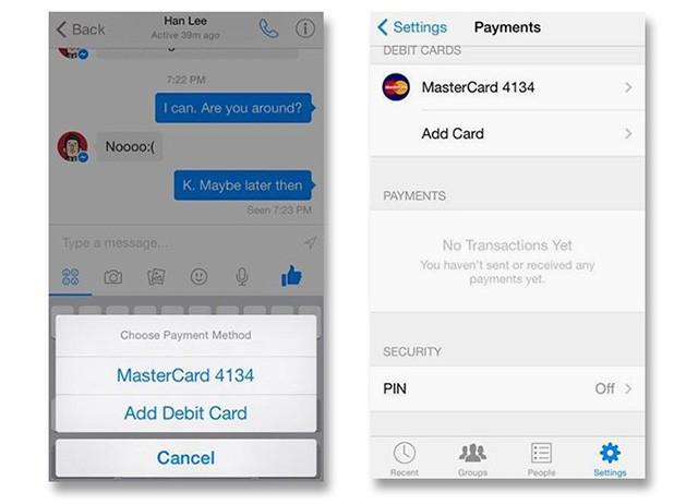 Facebook Messenger payments 2 - Facebook Messenger sắp bổ sung tính năng chuyển tiền trực tiếp