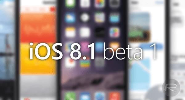 ios 8.1 - Cái nhìn đầu tiên về phiên bản iOS 8.1 beta