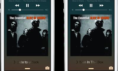 music slide 1 400x240 - Đổi giao diện nút slide to unlock với Music Slide