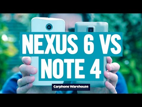nexus 61 - So sánh Google Nexus 6 và Samsung Galaxy Note 4 qua Video