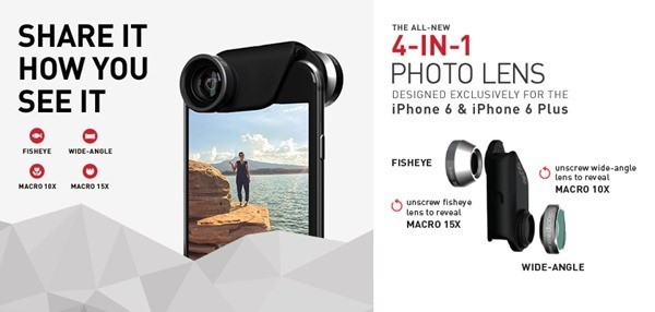 olloclip iphone6 2 - Ống kính Olloclip 4-in-1 cho iPhone 6, iPhone 6 Plus sắp ra mắt