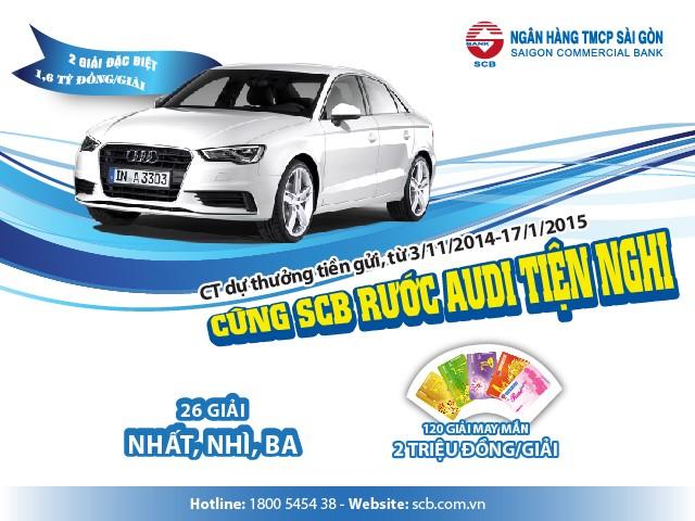 """ATM 640x480 01 Cung SCB ruoc Audi tien nghi - SCB triển khai chương trình khuyến mại dự thưởng """"Cùng SCB rước Audi tiện nghi"""""""