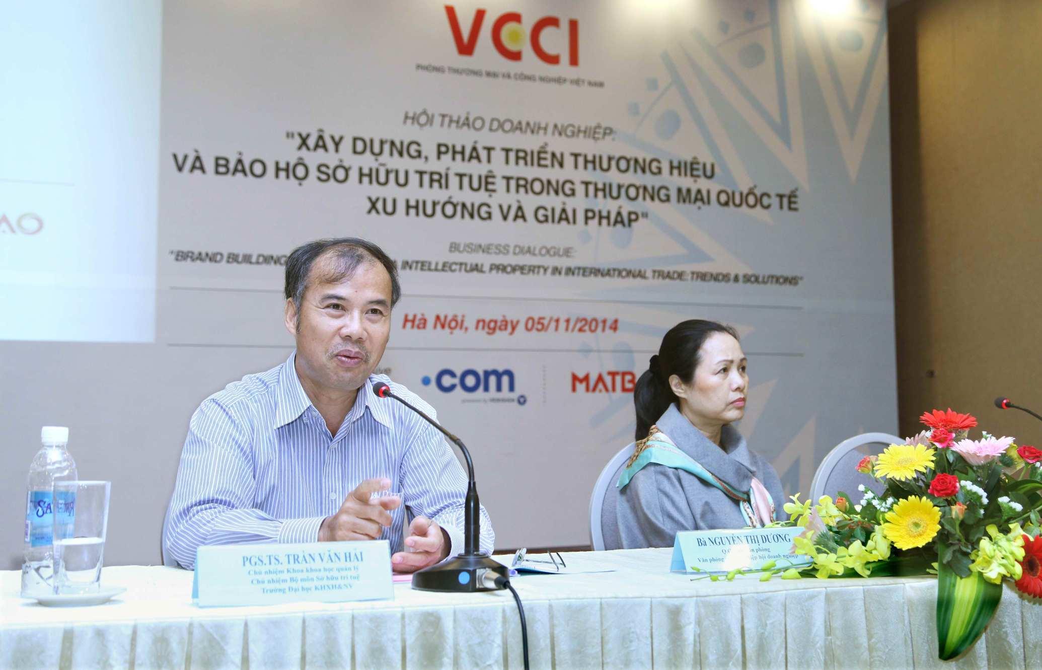 Hoi thao Xay dung Phat trien Thuong hieu va Bao ve so hu tri tue VCCI - Doanh nghiệp Việt nên xây dựng và đầu tư vào nhận diện thương hiệu trực tuyến