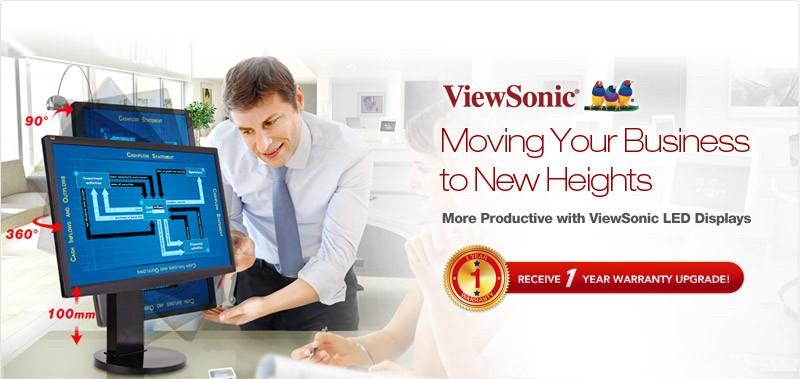 ViewSonic1 - Màn hình LED ViewSonic được gia hạn thêm 1 năm bảo hành