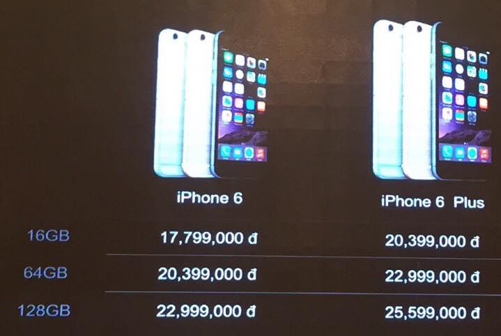 gia iphone 6 - FPT Trading công bố iPhone 6 chính hãng tại Việt Nam