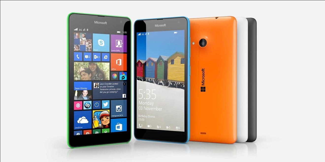 nokia 535 - Microsoft Lumia 535 chính thức có mặt với màn hình 5 inch qHD