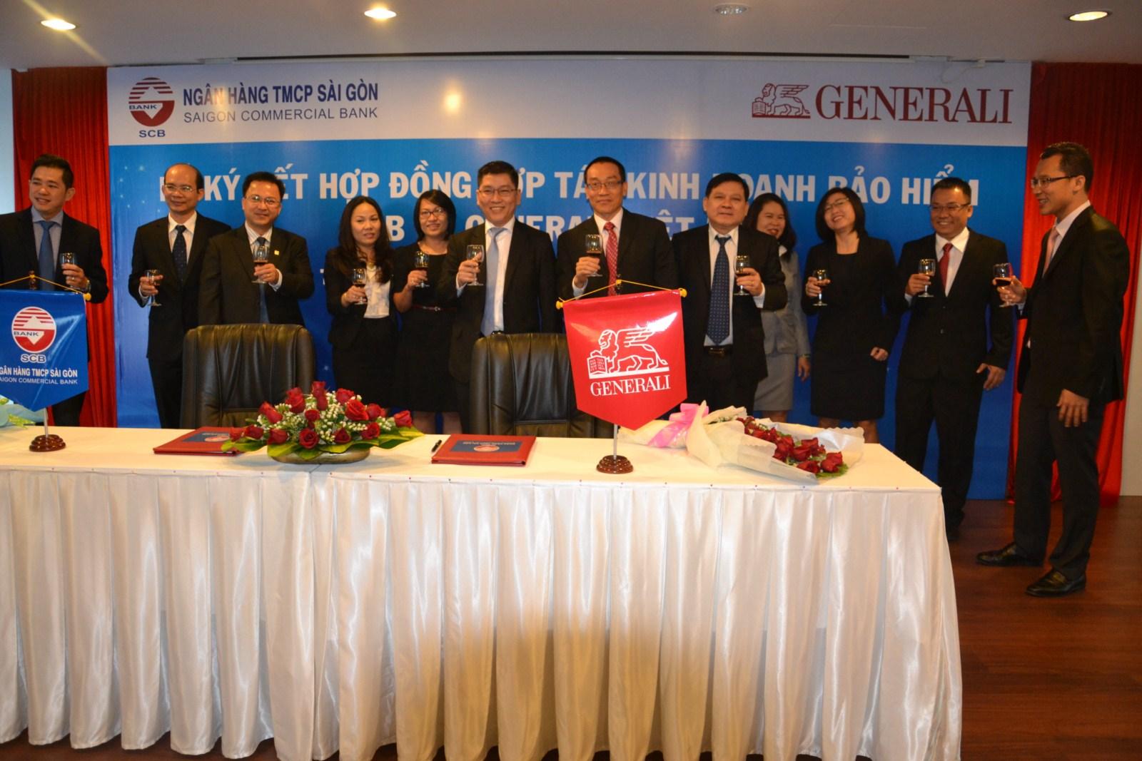 ky ket bao hiem qua ngan hang - SCB và Generali Việt nam triển khai hoạt động kinh doanh bảo hiểm qua ngân hàng