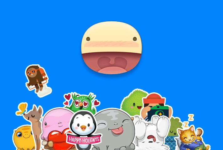 sticker messenger - Mẹo chèn những biểu tượng dễ thương vào ảnh trên di động
