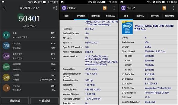 asus zenphone 2 - Asus Zenfone 2 đạt số điểm AnTuTu ấn tượng