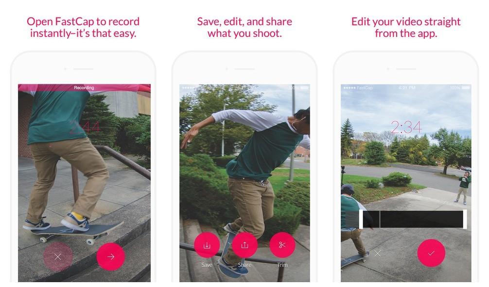 """fastcap - Fastcap: Ứng dụng quay video nhanh nhất """"hệ mặt trời"""""""