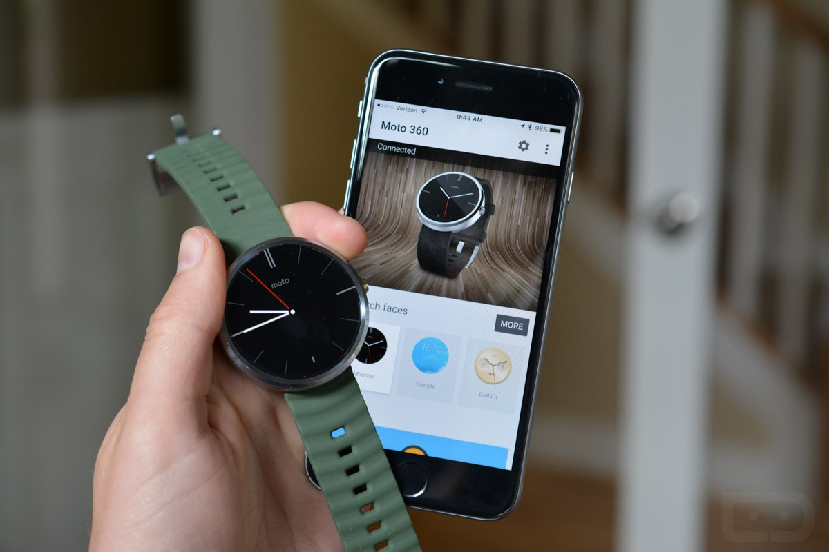 ng ho android wear - Đồng hồ Android Wear chính thức hỗ trợ iPhones