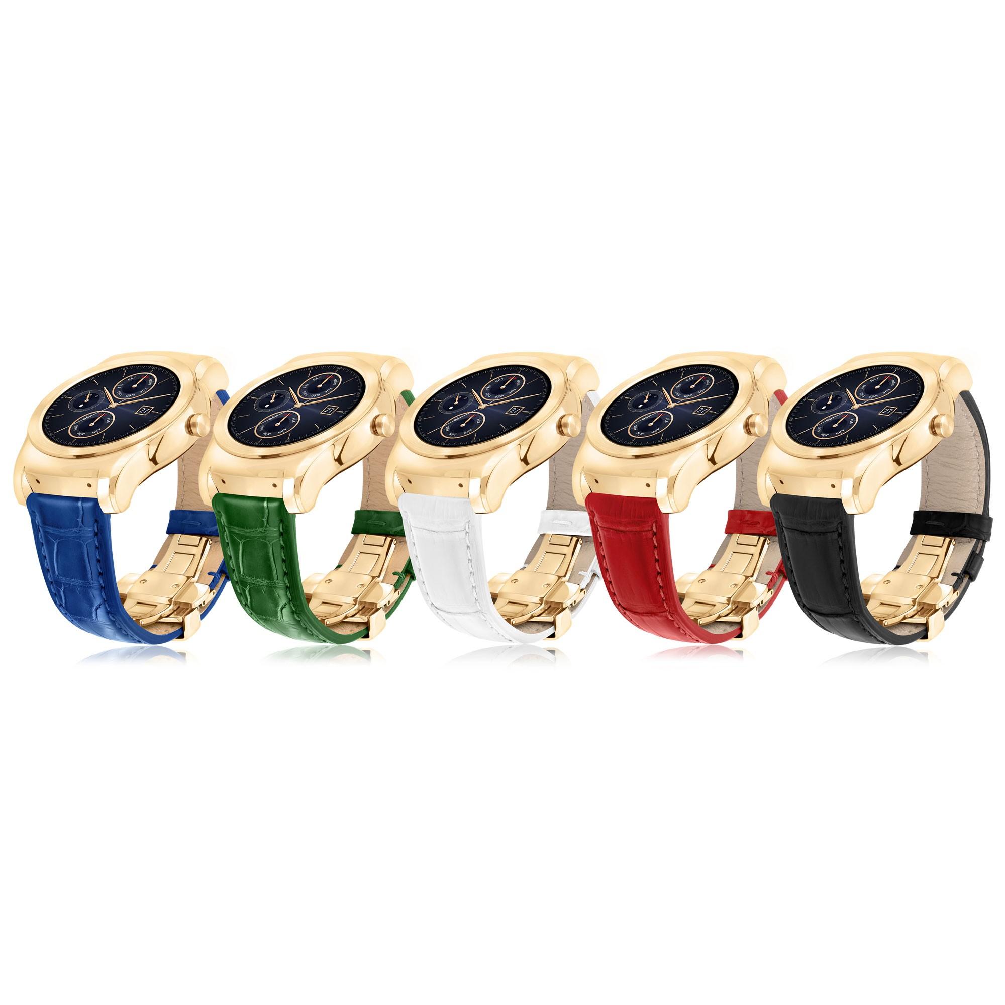 LG smartwatch dây cá sấu - LG ra mắt đồng hồ Watch Urbane Luxe với dây da cá sấu