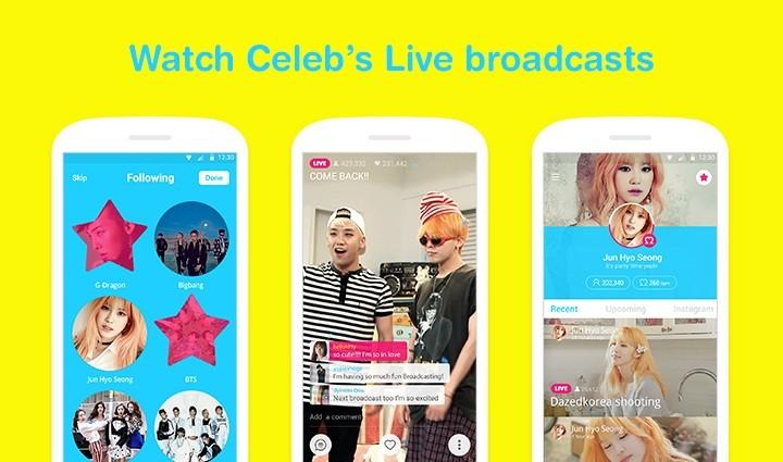 V app image1 - Ứng dụng 'V' dành cho fan tại Việt Nam