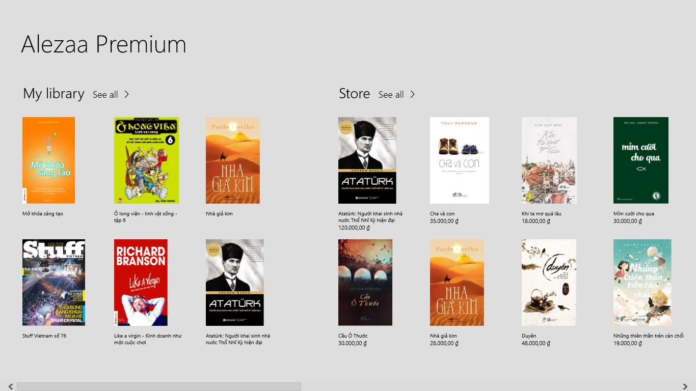 alezaa 1 - Đọc sách Việt trên Windows 10
