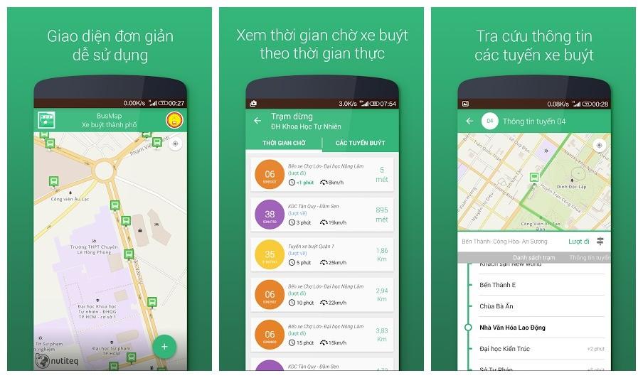 busmap - Hướng dẫn tra cứu thông tin xe buýt HCM trên Android