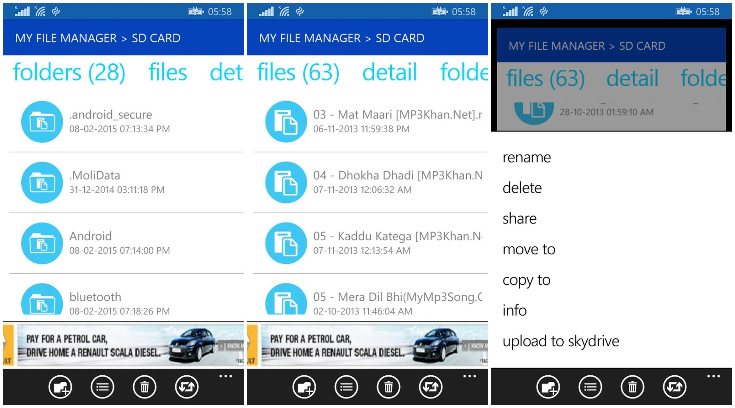 my file manager - Quản lý file trên Windows Phone với My File Manager