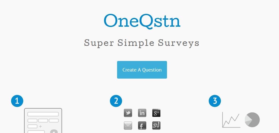 oneqstn - Tạo nhanh bảng thăm dò online trên di động