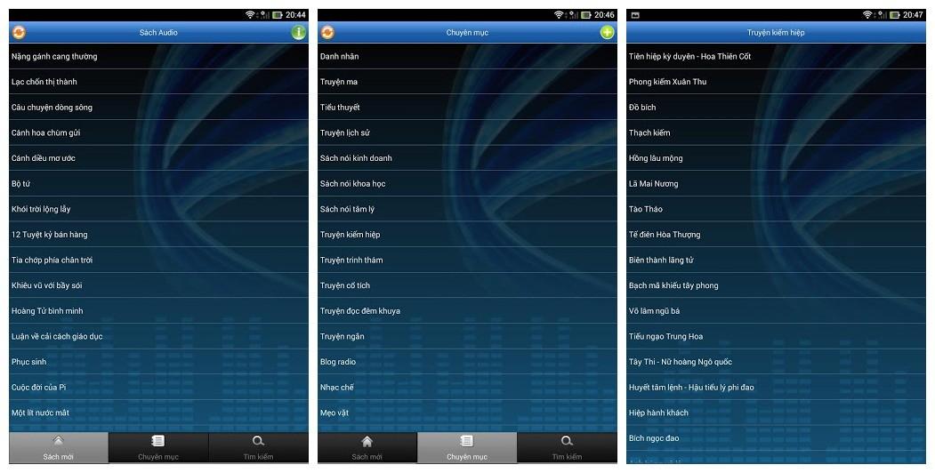 sachnoi audio - Sách Audio - Kho sách nói thuần Việt trên Android