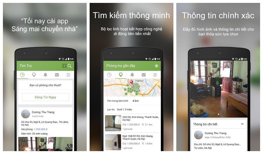 tim tro - Tìm nhà trọ thời di động với ứng dụng thuần Việt