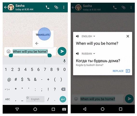 dich van ban tren android 6.0 - Dịch văn bản trực tiếp bên trong các ứng dụng trên Android 6.0