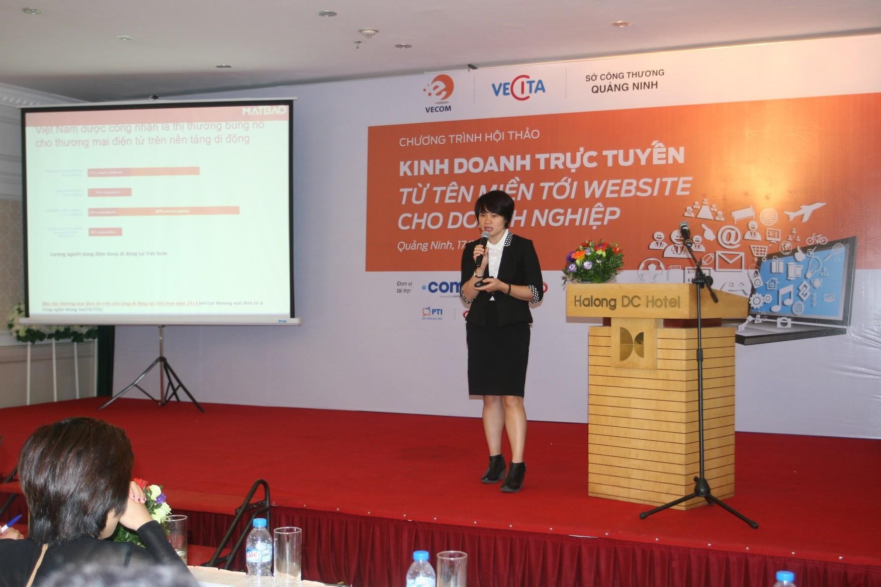Ba Luong Thi Thanh Huong GD Dieu hanh CT CP Mat Bao Mien Bac - Chớp thời cơ nhờ tham gia thương mại điện tử trên nền tảng di động