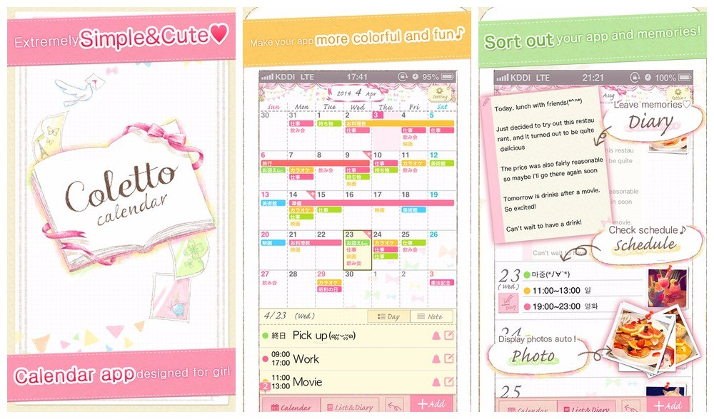 simple calendar - Coletto Calendar: Quyển lịch dễ thương cho bạn gái