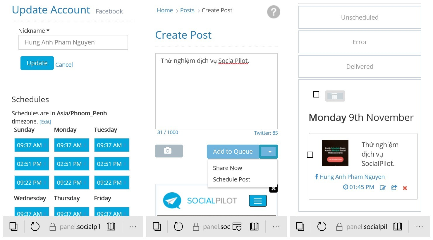 tu dong post bai facebook - Hướng dẫn lên lịch đăng bài Facebook, Tumblr