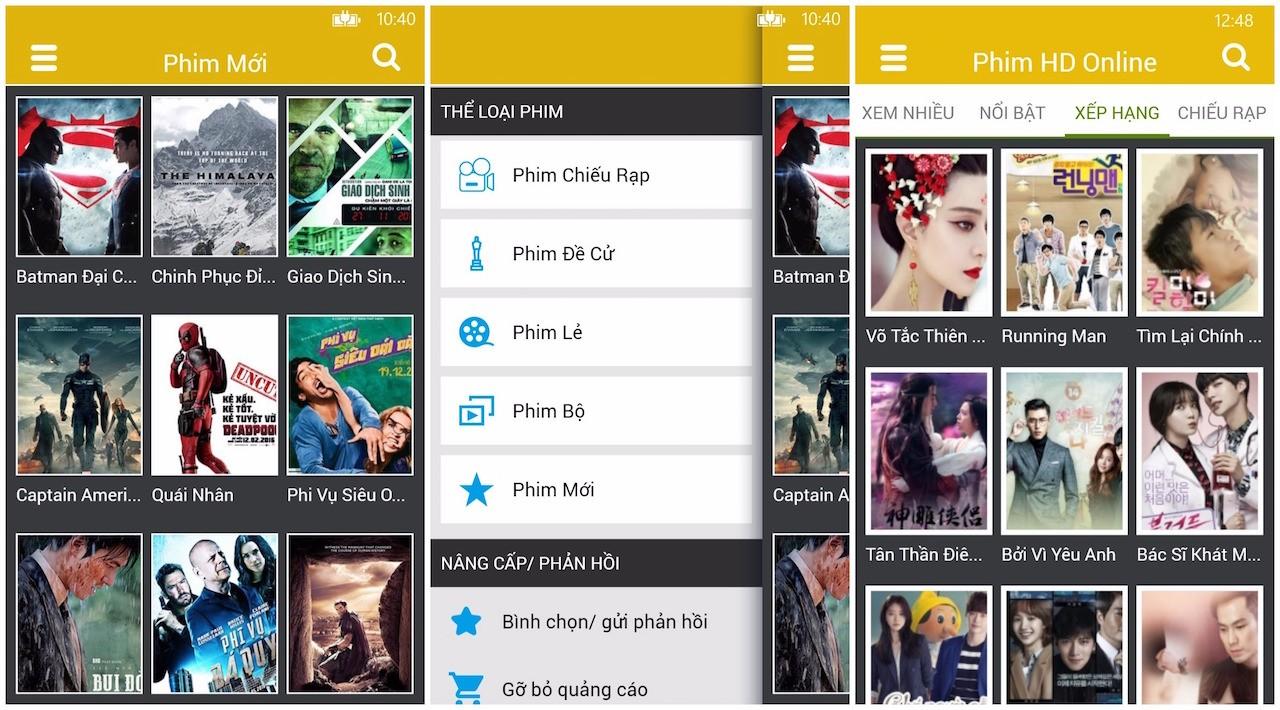phim hd online - Phim HD online: Ứng dụng xem phim Online trên Windows 10 Mobile