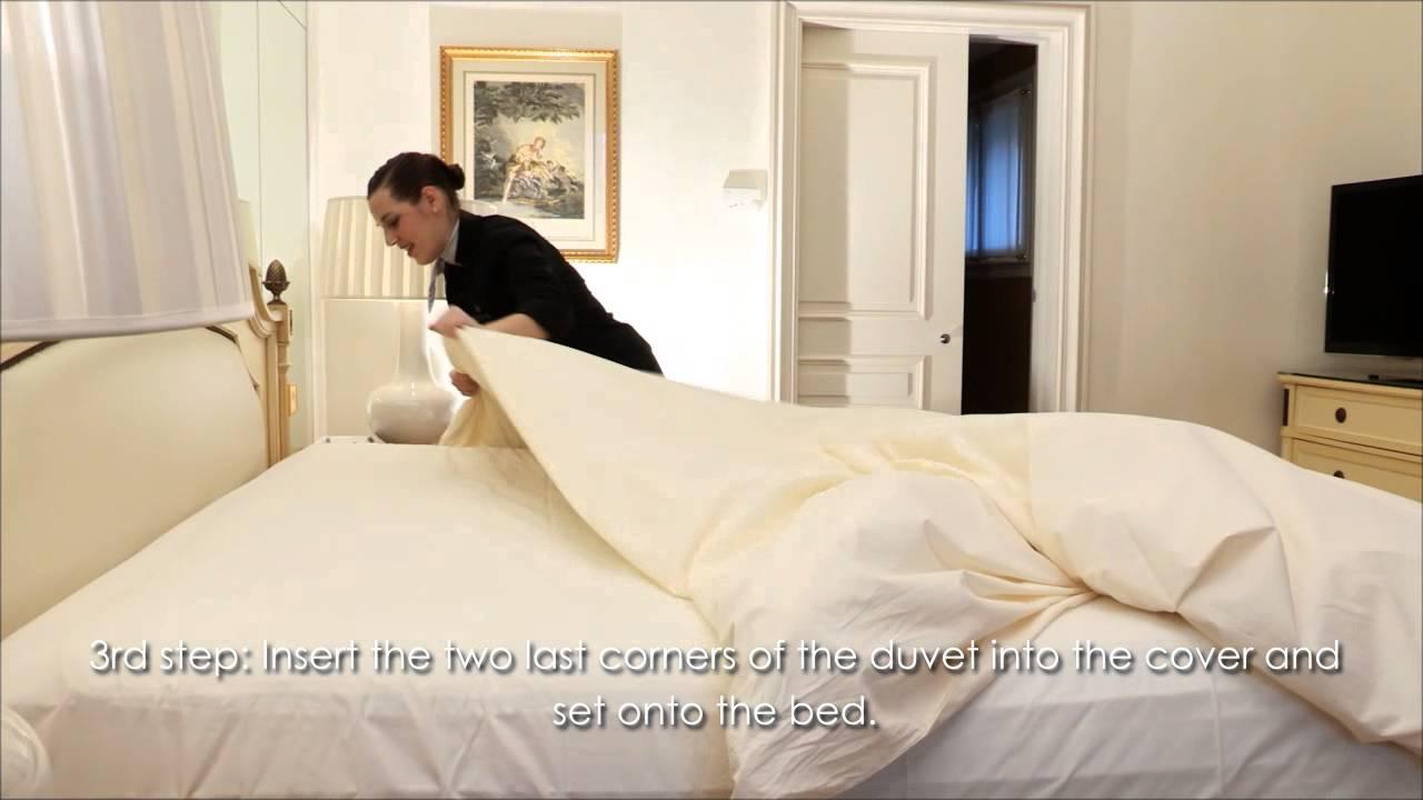 trai ra giuong - Ra giường khách sạn được trải như thế nào?