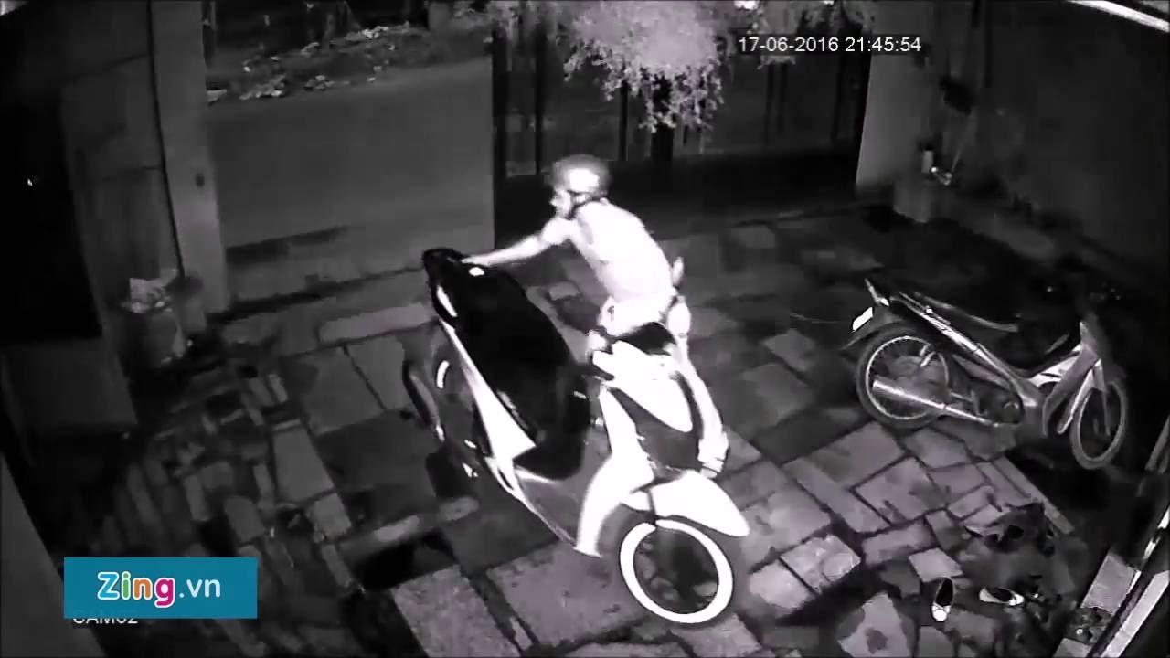 trom xe sh trong 3 giay - Vào nhà trộm xe SH trong 3 giây