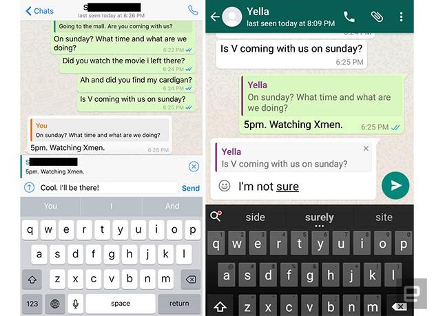 WhatsApp là ứng dụng nhắn tin đầu tiên có tính năng trích dẫn