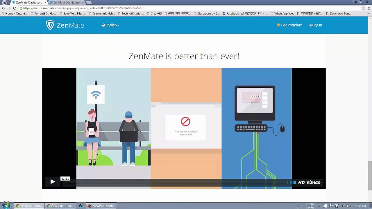 zenmate - Khắc phục mạng chậm do cáp AAG bảo trì với ZenMate, đang miễn phí 3 tháng