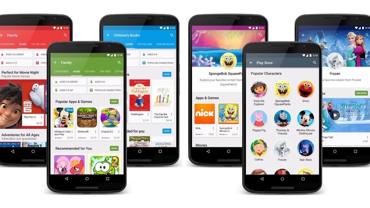 Google Play Family featured - Google Play Family Library chính thức được thử nghiệm