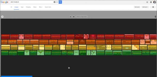google image search atari breakout - 12 game ẩn trên các sản phẩm Google