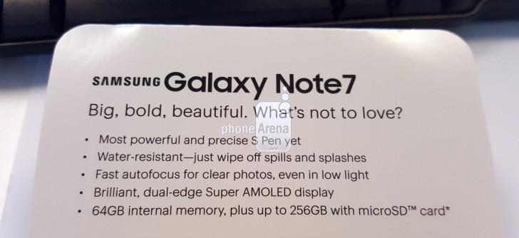 """Galaxy Note 7 lộ loạt thông tin trước """"giờ G"""""""
