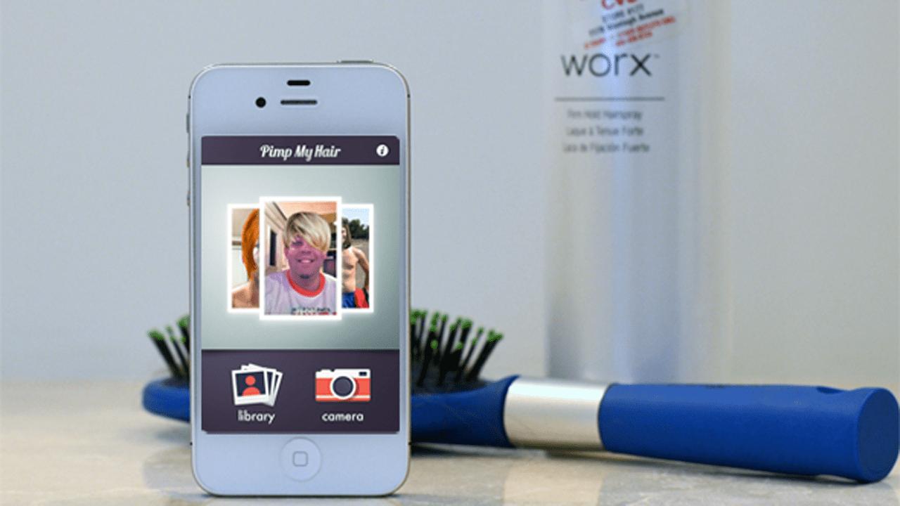 pimp my hair iphone review1 - Top 10 ứng dụng dành cho bạn nữ mê làm tóc trên iOS