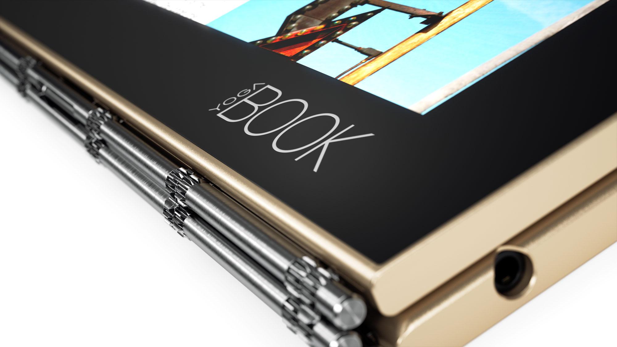 02 Yoga Book Logo Close up - Lenovo ra mắt Yoga Book với bút Stylus đa năng có thể viết trên giấy và màn hình