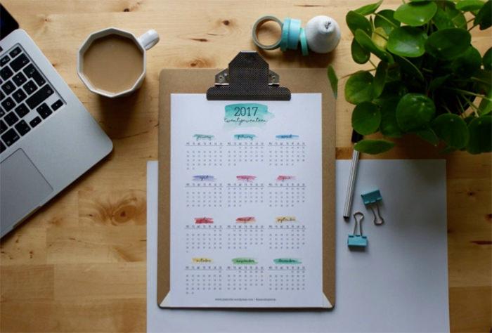 2017 calendar todo list - Mời bạn tải về trọn bộ 20 bộ lịch in mới cho năm 2017
