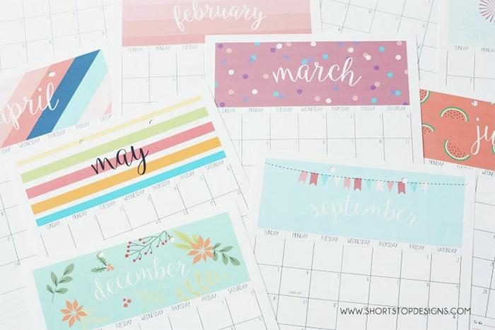 2017 printable calendar - Mời bạn tải về trọn bộ 20 bộ lịch in mới cho năm 2017
