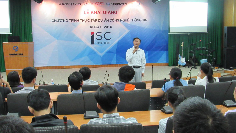 IMG 0118 - Trung tâm ISC - Quang Trung khai giảng khóa I chương trình thực tập dự án CNTT