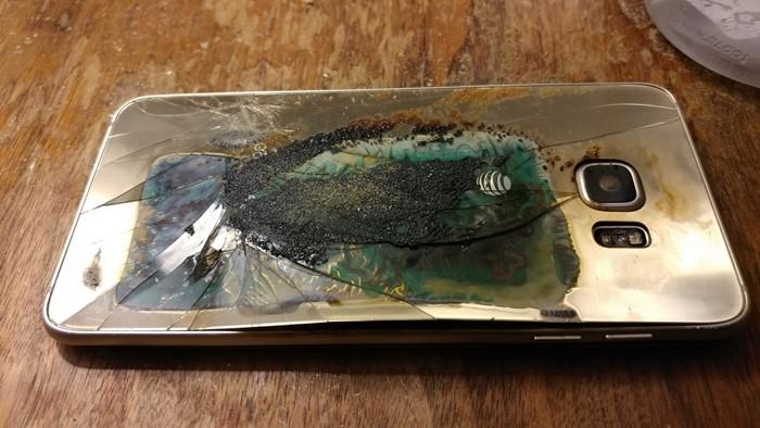 charred galaxy s6 edge 1  - Samsung S6 Edge phát nổ, Samsung tiếp tục bị vận đen đeo bám